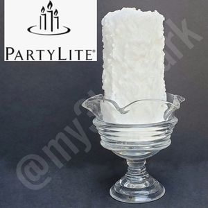 NIB Partylite Snow Pillar & Sundae Pillar Holder